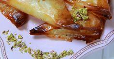 Dulces árabes con pasta filo y crema de sémola paso a paso