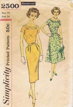 1950s Simplicity 2500 Womens