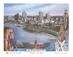 Memphis on the River ~ Memphis Art by local artist Louise Dunavant