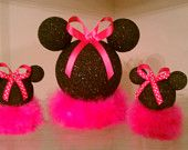 Items similar to 3 Minnie Mouse centerpieces on Etsy Minie Mouse Party, Minnie Mouse Theme Party, Mickey Mouse Baby Shower, Theme Mickey, Red Minnie Mouse, Mickey Mouse Parties, Mickey Party, Disney Parties, Baby First Birthday