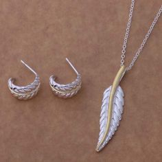 AS130 Hot 925 sterling  silver Jewelry Sets Earring 152 + Necklace 305 /afiaiwpa alvajdca
