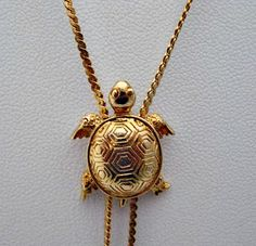 Turtle Slide Necklace  1980 Vintage Avon Jewelry by vintagejewelry, $20.50