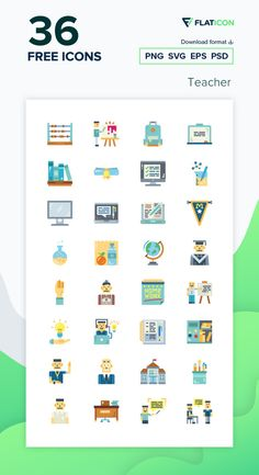 36 Teacher icons for personal and commercial use. Smalllikeart Flat icons. Download now free icon pack from Flaticon, the largest database of free vector icons. #Flaticon #icons #teacher #education #school #college