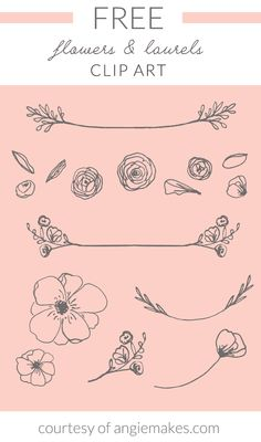 Free Laurel & Flowers Clip Art | angiemakes.com