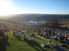 view from the lawn at Gorge Ampitheatre