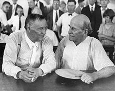 The Scopes Trial, formally known as The State of Tennessee v. John Thomas Scopes and commonly referred to as the Scopes Monkey Trial, was a landmark American legal case in 1925 in which high school science teacher, John Scopes, was accused of violating Tennessee's Butler Act, which made it unlawful to teach evolution in any state-funded school. The trial began on July 10. 1925.