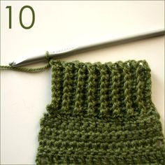 Single Crochet Ribbing instructions