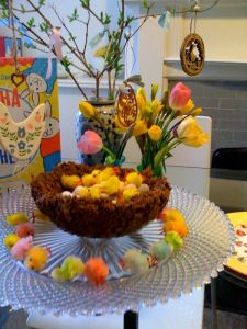 Giant chocolate Easter nest