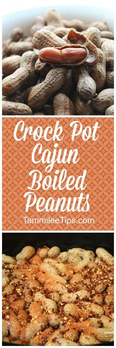How to make Spicy Crock Pot Cajun Boiled Peanuts Recipe! This slow cooker recipe is super easy to make and tastes amazing!  via @tammileetips