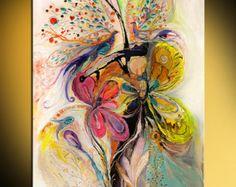 Abstracto Oriental impresión sobre lienzo fondo por LenaKotliarker