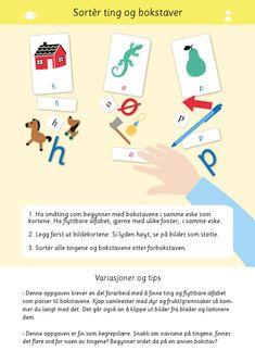 Bokstaver og språkleker i samme materiell! Alfabet første lyd kan brukes på en rekke ulike måter for å øve på bokstaver og språk. Språkleker, norsk, 1.trinn, bildekort, undervisning, lese, læremateriell, bokstaver, alfabet Family Guy, Map, Education, Fictional Characters, Pictures, Maps, Educational Illustrations, Learning, Peta