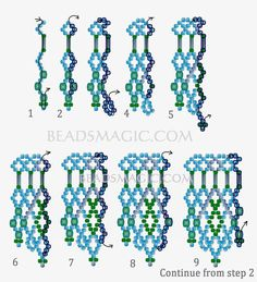 Free pattern for beaded necklace Greenland   U need: seed beads 11/0 bugles beads faceted chezh beads 3 mm