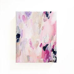Lucie 8x10 Abstract Painting Original Art Mixed Media Pink Purple by Mari Orr || www.mariorr.com