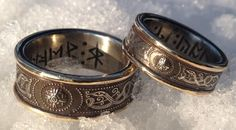 Wedding rings.... if I get more into runes by the time we get rings this would be awesome http://www.jasonofengland.co.uk/