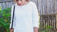 @Luhhsettyxo wearing Lookbook Store's Must-have White Sweater | Lookbook Store Fashion in Action #LBSMovingFashion