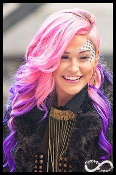 DIY Halloween Hair: DIY Halloween Hairstyles : pink and purple hair