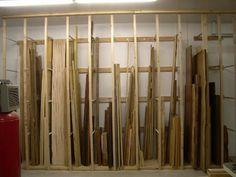 Lumber storage rack | vertical lumber storage