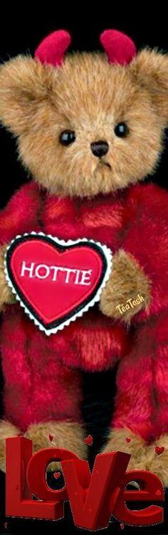 ❇Téa Tosh❇ Bearington Bear…Hey Hottie… Love And Light, Happy Valentines Day, Appreciation, Plush, Teddy Bear, Romantic, Tea, Color, Colour