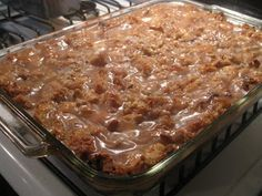 Bread Pudding: I made this and it's amazing, for the glaze I used Maple Crown and Jim Beam and it was unbelievable.
