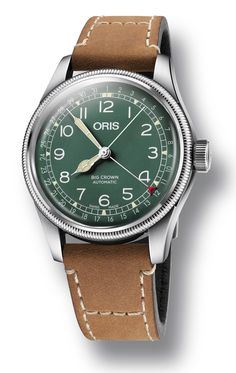 Oris Watch Big Crown 286 HB-RAG Limited Edition 01 754 7741 LS Watch available to buy online from with free UK delivery. Oris Aquis, Seiko Presage, Custom Design Shoes, Seiko Watches, Luxury Watches For Men, Cool Watches, Male Watches, Leather Accessories, Watch Brands