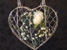 Flower girl wired heart bag