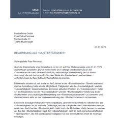 #Bewerbungsvorlage mit #Deckblatt, #Anschreiben und #Musterlebenslauf - http://bewerbung.co/muster/bewerbungsvorlage-30