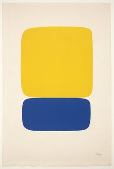 Ellsworth Kelly: 'Yellow over Dark Blue' 1964-5.