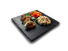 Square Slate Plate (Set of - 10 x 10 by Slateplate on Gourmly