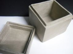 slab box with lid and lip