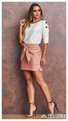 Dressy Skirts, Cute Skirts, Mini Skirts, Skirt Outfits, Casual Outfits, Short Sleeve Collared Shirts, Girl Fashion, Fashion Dresses, African Print Fashion