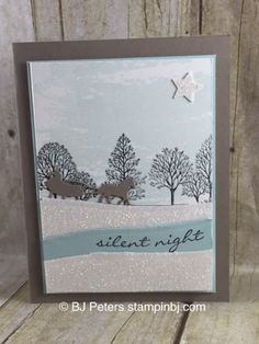 Lovely as a tree, Stampin' Up!, BJ Peters, Jingle all the way, sleigh ride