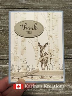 Stampin& Nature& Beauty - B Karte Tiere - Masculine Birthday Cards, Masculine Cards, Stampin Up Christmas, Stampinup Christmas Cards, Diy Blog, Stamping Up Cards, Animal Cards, Embossing Folder, Homemade Cards