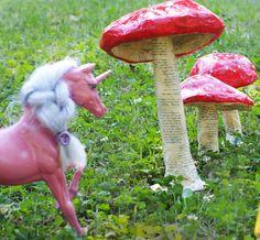 paper mache toadstool - the unicornloves it!