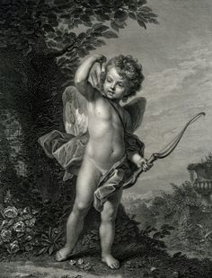 "kecobe: "" L'Amour clair-voyant = All-Seeing Cupid Ignaz Sebastian Klauber (German; after Carle Vanloo (French; Etching and engraving The British Museum, London Religious Tattoos, Religious Art, Cherub Tattoo, Cupid Tattoo, Ange Demon, Photocollage, Angel Statues, Foto Art, Angels And Demons"