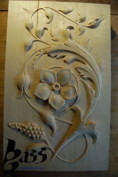 Acanthus - www. Plaster Sculpture, Plaster Art, Wood Sculpture, Sculptures, Wood Carving Designs, Wood Carving Art, Wood Art, 3d Cnc, Wood Ornaments