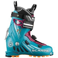 Scarpa Womens Ski Boots Arctic Blue Purple 27 * See this great product. (This is an affiliate link) Trekking Shoes, Hiking Shoes, Freeride Ski, Strong Legs, Ski Boots, Camping And Hiking, Outdoor Woman, Golf Bags, Purple