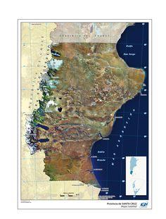 Mapa satelital de Santa Cruz - Instituto Geográfico Nacional de la República Argentina