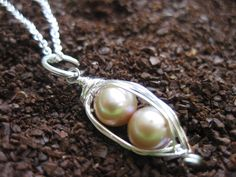 Two+peas+in+a+pod+necklace++Champagne+by+organics+on+Etsy,+$33.00