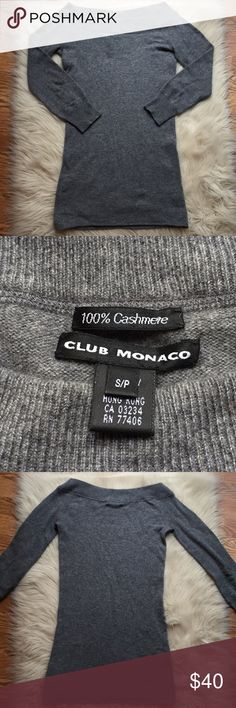 Club Monaco Cashmere Top Beautiful luxurious gray colored cashmere top in excellent condition. Club Monaco Tops