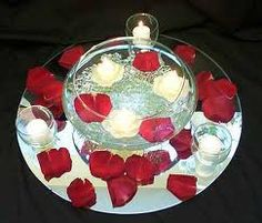 Wedding Centerpieces White Floating Candles and Red Roses Red And White Wedding Decorations, Black And White Centerpieces, Red Wedding Centerpieces, Red And White Weddings, Floating Candle Centerpieces, Red Wedding Flowers, Wedding Table Decorations, Flower Centerpieces, Centerpiece Ideas