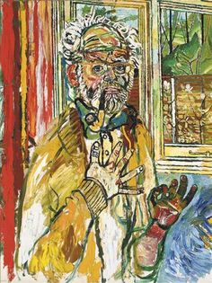 View Self-portrait with yellow pipe By John Bratby; oil on canvas; 48 x 36 in. Access more artwork lots and estimated & realized auction prices on MutualArt. John Bratby, English Artists, British Artists, Gustave Courbet, Selfies, A Level Art, Creative People, Portraits, Impressionist