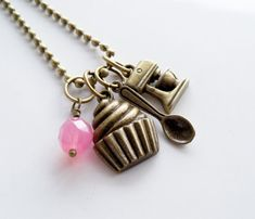 Baker Charm Necklace  Cooking Jewelry  Baking by OxfordBright