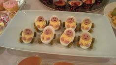 deviled eggs baby shower | baby shower ideas / deviled eggs as baby carriage