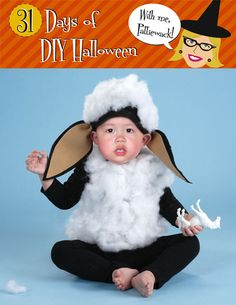 31 Days of DIY Halloween - Ba Ba Black Sheep Costume