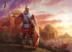 Greek History, Roman History, Ancient History, Byzantine Army, Medieval, Greece Painting, King Painting, Roman Warriors, Constantino