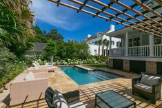 Downtown Charleston renovation featuring a brand new geometric pool. Swimming Pool Designs, Swimming Pools, Geometric Pool, Blue Pool, Luxury Pools, Pool Builders, Custom Pools, Spa Services, Water Features