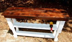 Reclaimed Wood Wine Rack Table