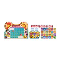 Teach students about the days of the week and months of the year with this colorful calendar that incorporates all Mickey Mouse Clubhouse characters. 110 Piece