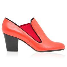 Mimi Orange Leather Shoe Boot