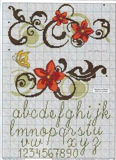 Alfabeto e fiore